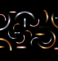 abstract geometric metallic gradient shapes vector image