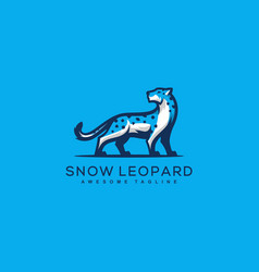 abstract snow leopard design concept template vector image