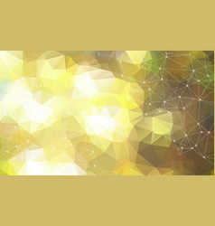 abstract space yellow background chaotically vector image