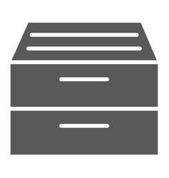 archive storage glyph icon office and work vector image