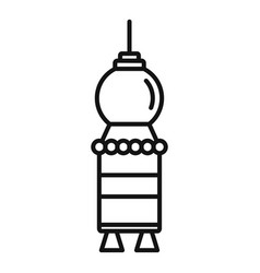 artificial satellite spaceship icon outline style vector image