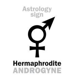 Astrology hermaphrodite androgyne vector