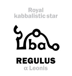 Astrology regulus the royal behenian kabbalistic vector