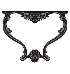 Baroque Table furniture vector image