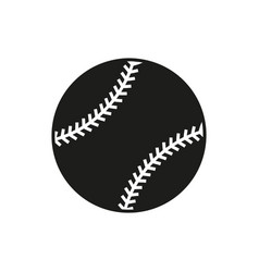 baseball line art icon on white background vector image