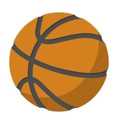 Basketball single cartoon vector image