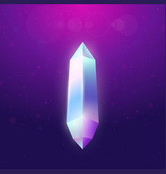 Big crystal with glowing effect vector
