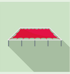 big trampoline icon flat style vector image