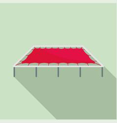Big trampoline icon flat style vector
