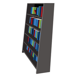 bookshelf library and bookstore cartoon gra vector image