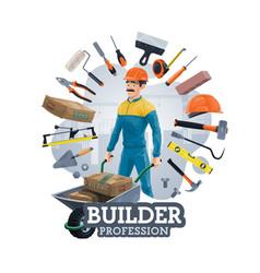 Building construction work tools builder worker vector