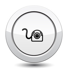 Button with web camera icon vector