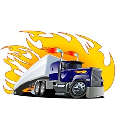 Cartoon Semi Truck Oneclick repaint vector image