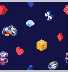 Casino games 3d seamless pattern poker vector