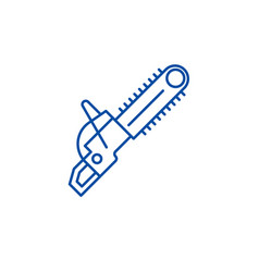 Chainsaw line icon concept flat vector