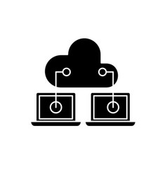 cloud technologies black icon sign on vector image