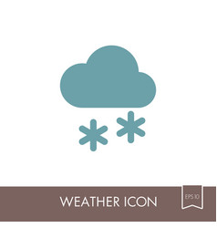 Cloud with snow icon meteorology weather vector