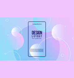 colorful geometric background gradient background vector image