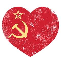 Communism USSR - Soviet union retro heart flag vector