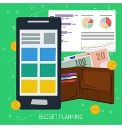 CONCEPT BUDGET PLANNING vector image