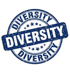 Diversity blue grunge stamp vector