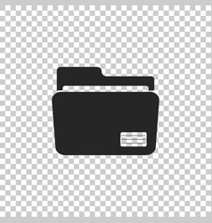 document folder icon isolated on transparent vector image