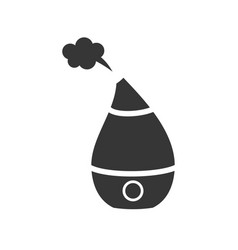 domestic humidifier glyph single isolated vector image