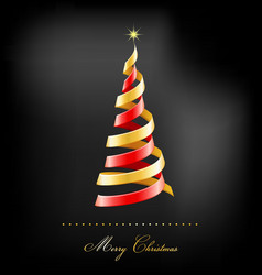 Elegant golden christmas background with tree vector