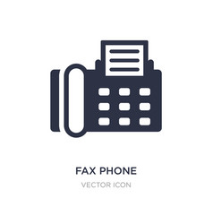 Fax phone icon on white background simple element vector