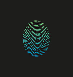 fingerprint logo colored fingerprint icon vector image