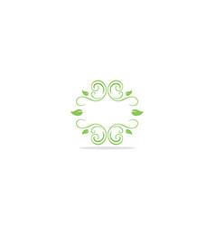 floral ornament leaf decoration logo vector image