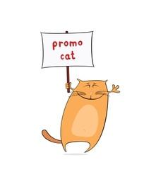 Funny promo cat vector