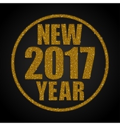 Gold sequins new 2017 year star circle vector
