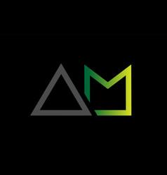 Green black grey alphabet letter logo combination vector