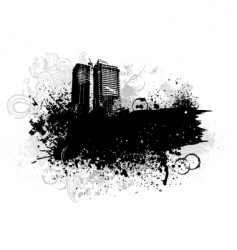 grunge city design vector image