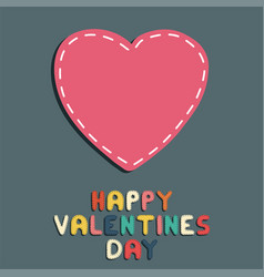 happy valentines day card sticker heart vector image