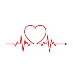 Heart rhythm electrocardiogram ecg - ekg signal vector