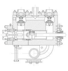 Hydraulic piston pump part vector