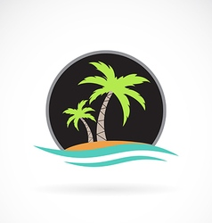 Image of an summer logo design vector