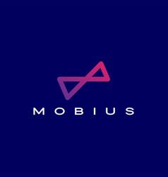Infinity mobius logo icon vector