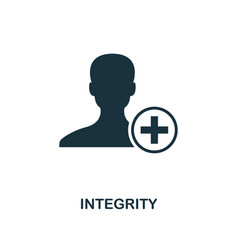 Integrity icon monochrome style design from vector