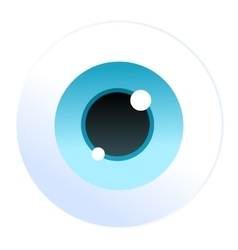 Isolated cartoon blue eyeball icon vector image