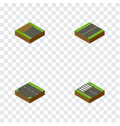 Isometric road set of downward plane strip and vector