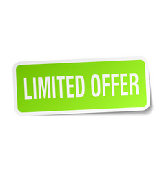limited offer square sticker on white vector image vector image