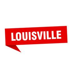 Louisville sticker red louisville signpost vector