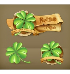Lucky Clover icon vector image