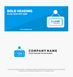 Marketing board sign close solid icon website vector