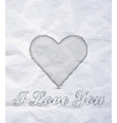 Message I love You vector image