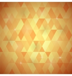 Orange geometric retro mosaic pattern vector
