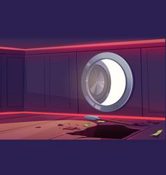 Robbery in bank vault safe vector